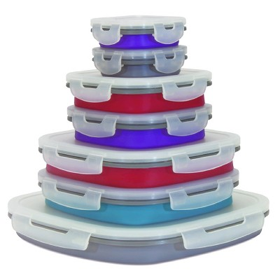 SmartPlanet 14 Piece Collapsible Silicone Food Storage Set