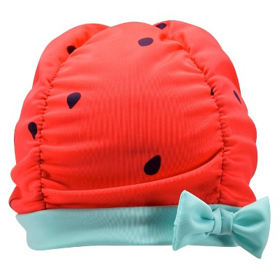 Toddler Girls' Watermelon Knit Swim Cap Beanie Pink 2T-5T - Circo™