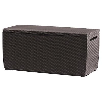 Keter Capri 80 Gallon Outdoor Storage Box - Brown Rattan