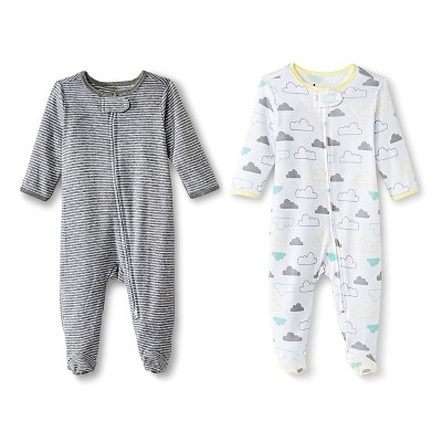 Circo™ Baby 2-Pack Footed Sleeper - Gray 0-3 M