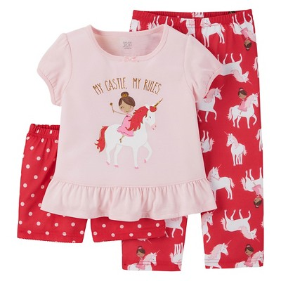 Just One You™ Made by Carter's® Baby Girls' 3-Piece Princess Pajama Set - Pink 18M