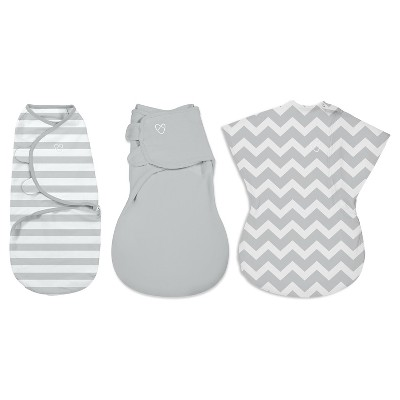 SwaddleMe® All Stages 3-Pack Grey Chevron/Stripes/Solid