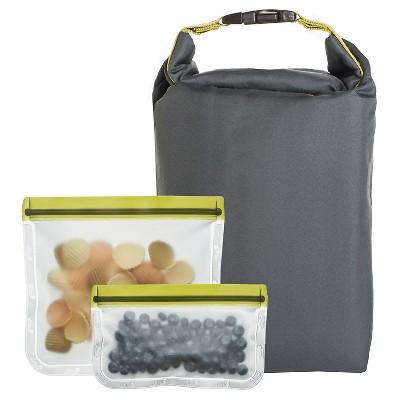 Blue Avocado Grey Lunch Bag