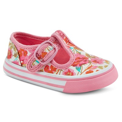 Infant Girls' Genuine Kids from OshKosh™ Amina Floral T-Strap Sneakers - Pink 4