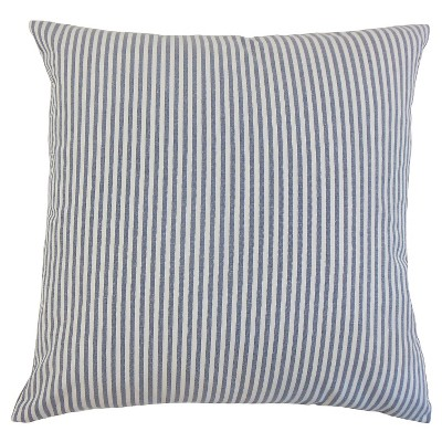 "Stripe Throw Pillow Navy (18""x18"") - The Pillow Collection"