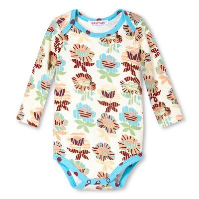Baby Nay Rosie Stripes Long Sleeve Bodysuit -Light Cream Opaque 3 M