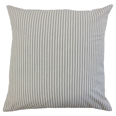 "Stripe Throw Pillow Slate (18""x18"") - The Pillow Collection"