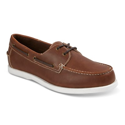 Men's Milo Boat Shoes - Brown 8.5 - Merona™
