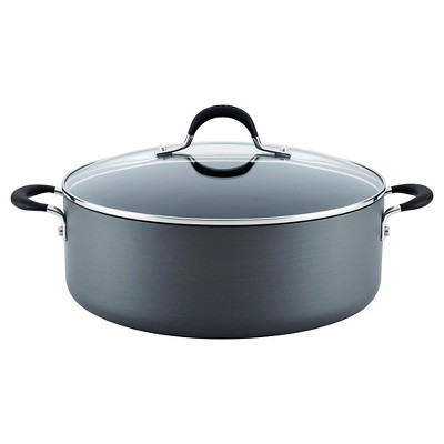 Circulon Momentum 7 1/2 Quart Hard-Anodized Non-stick Covered Stockpot - Gray