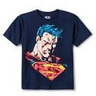Superman Boys' Mosaic T-Shirt - Navy