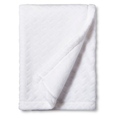 Circo™ Soft Fleece Embossed Baby Blanket - White Chevron
