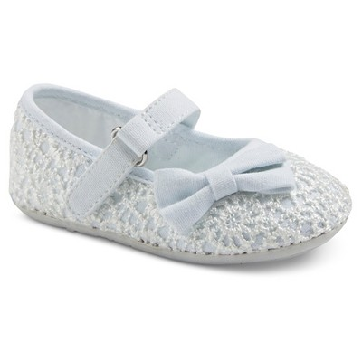Infant Girls' Genuine Kids from OshKosh™ Alberta Lace Ballet Flats - White 2
