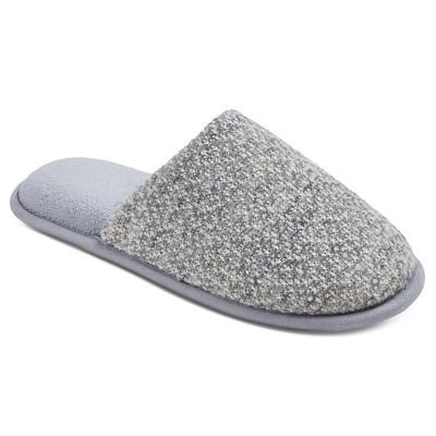 Women's dluxe by dearfoams® Marin Slide Slippers - Grey XL