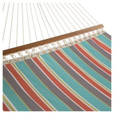 Key West Single Layer Hammock -  Stripe Blue
