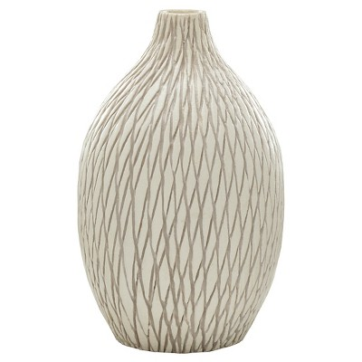 Threshold Cream Ceramic Vase - Medium