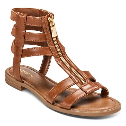 Excellent  Cole Haan Jensen Flat Women Leather Brown Gladiator Sandal Sandals