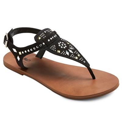 Women's Krista Thong Sandals - Black 7