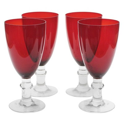Certified International All Purpose Goblet Set of 4 - Ruby (16oz)