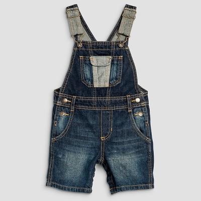 Toddler Boys' Shortalls - Dark Blue 12M
