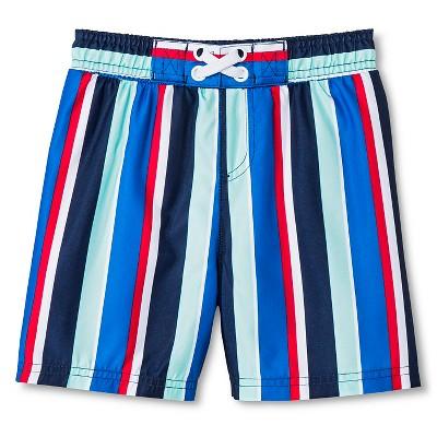 Baby Boys' Stripe Swim Trunk Sneaky Blue 12M
