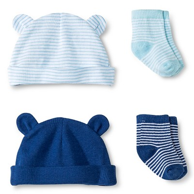 Circo™ Baby Boys' 2-Pack Hat and Sock Set - Blue S