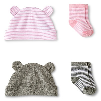 Circo™ Baby Girls' 2-Pack Hat and Sock Set - Pink S