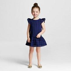 Toddler Girls' Eyelet Dress Blue - Cherokee®