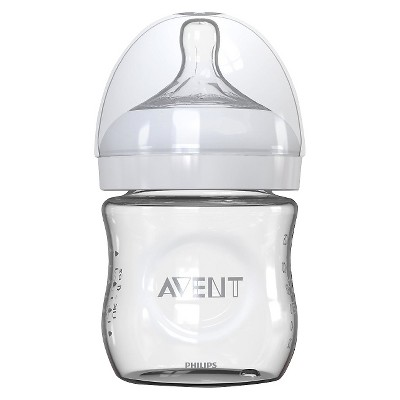 Philips Avent Glass Baby Bottle Clear 4 oz.