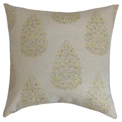 """The Pillow Collection Autumn Decorative Pillow - Lemon (18""""X18"""")"""