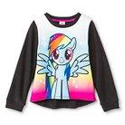 Girls' My Little Pony Sweatshirt- Black/White