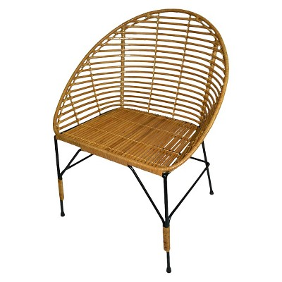Threshold Linear Weave Rattan Lounge Chair