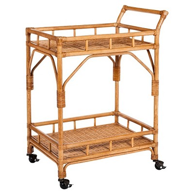 Threshold Rattan Bar Car w/ Casters