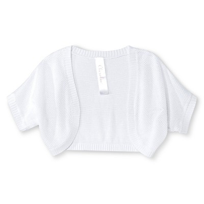 Baby Girls' Sparkle Shrug White 18M - Cherokee®