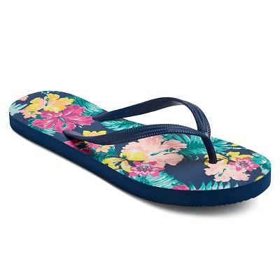 Women's Letty Flip Flop - Navy Floral Print L