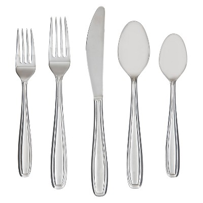 Farberware Vanilla Mirror Flatware - 45-pc. Set