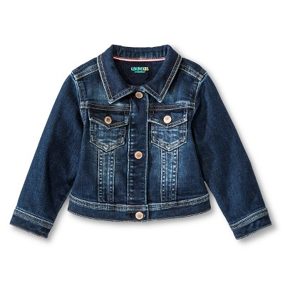 Baby Girls' Jean Jacket Medium Wash - Genuine Kids from Oshkosh™  12M