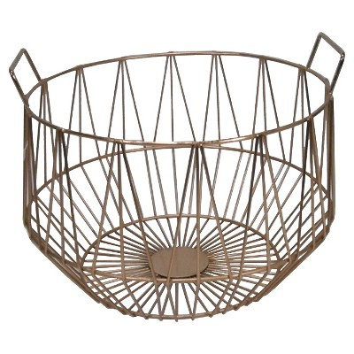 Threshold Copper Metal Basket - Medium