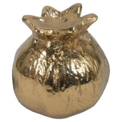 Decorative Figurine Threshold Gold Aluminum Floral