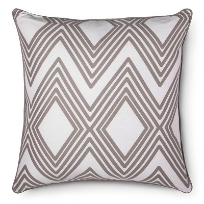 Oversized Throw Pillow Diamond Geo - Gray - Room Essentials™