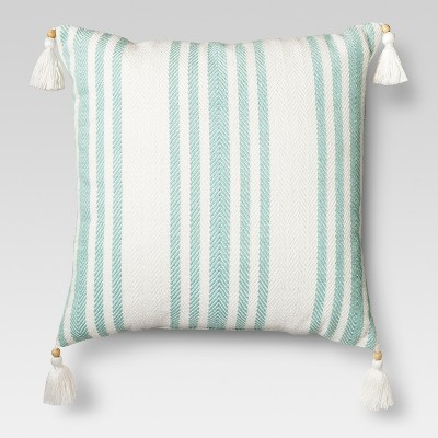Woven Stripe Throw Pillow - Aqua Blue – Threshold™