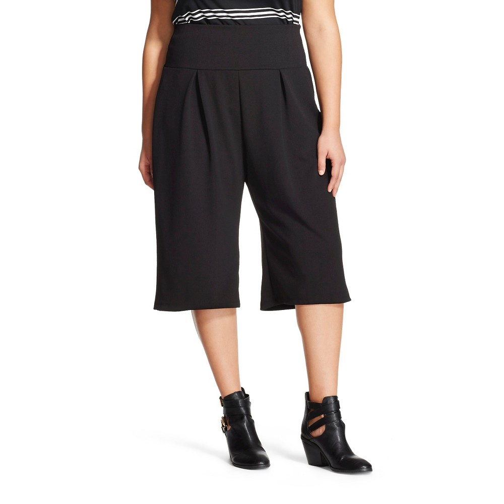 Women's Plus Size Gaucho Pant Black - Lily Star