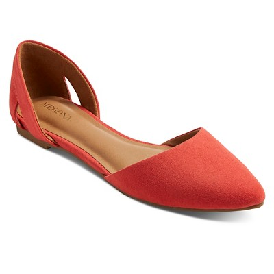 Imn Shoes Adult Ballet Flats Celine Merona Coral 8