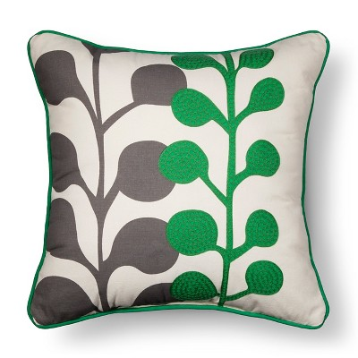 Embroidered Botanical Throw Pillow - Green - Room Essentials™