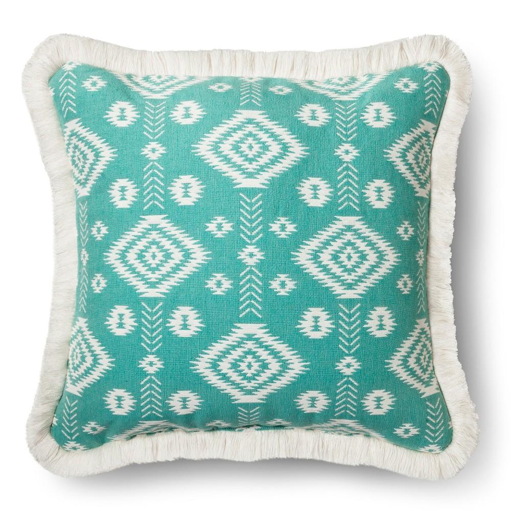 Aqua Global Throw Pillow - Blue – Threshold