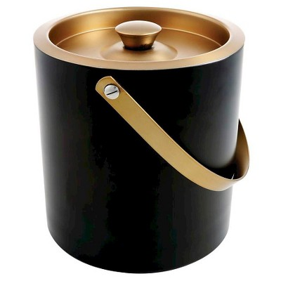 Cambridge Dorian Brass & Black 3 qt Ice Bucket