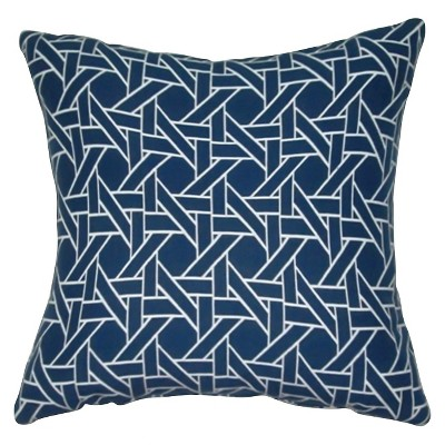 Oversized Throw Pillow Woven Caning - Blue – Threshold™