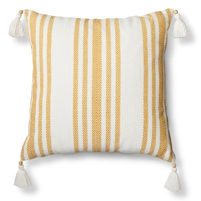 Woven Stripe Throw Pillow - Yellow – Threshold™