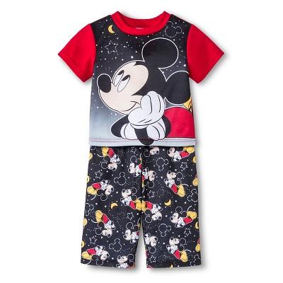 Infant Boys'  Mickey 2Pc Sleepwear  Set- Red 12M