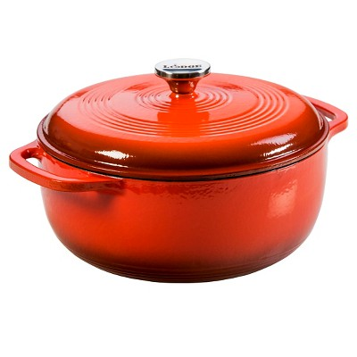 Lodge Enameled 6 Quart Cast Iron Dutch Oven - Poppy