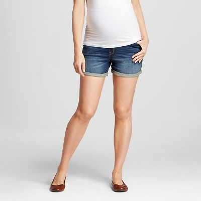 Maternity Over the Belly Jean Shorts - Medium Wash M - Liz Lange® for Target